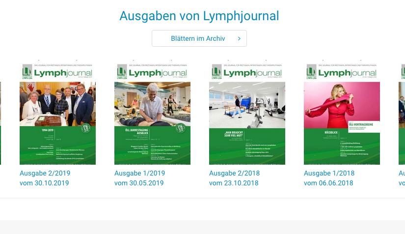 divere Covers des Lymphjournals